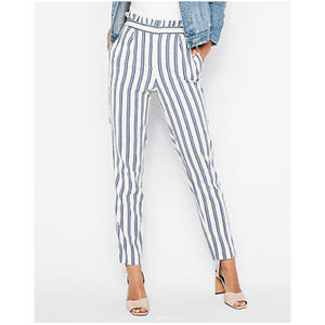 EXPRESS High Waisted Ankle Pants Paper Bag Trouser